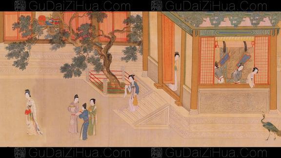 汉宫春晓图明仇英绘台北故宫博物院藏古代字画光明之门出品