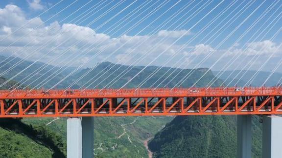北盘江第一桥:565米!世界最高的桥
