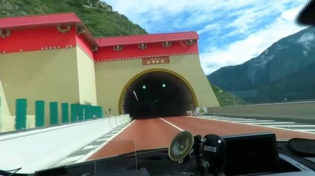 雅安到康定30公里的隧道,全程高速免费,景色美不胜收!