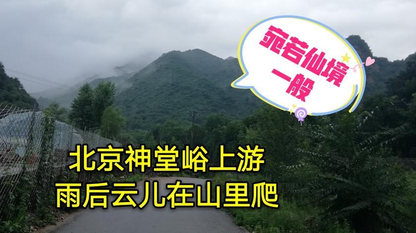 到北京神堂峪上游游玩儿,雨后的云彩在山里爬,宛若仙境一般!