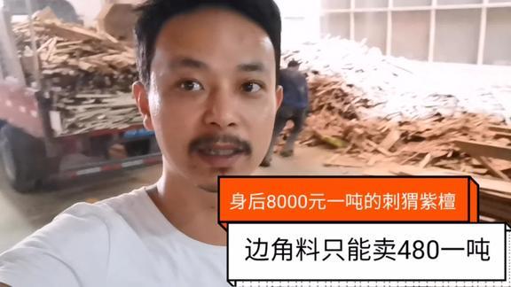 8000元一吨的刺猬紫檀,边角料只卖480元!谁有变废为宝的办法?