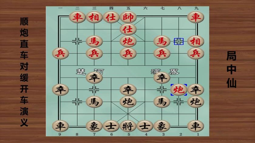 中国象棋全局谱:顺炮直车对缓开车演义 第1局