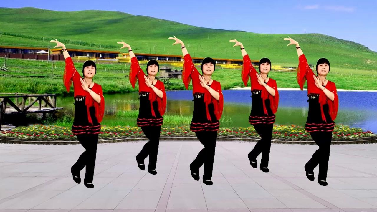 民族情歌广场舞《阿哥阿妹》谢军演唱,旋律欢快好听醉人,真好听
